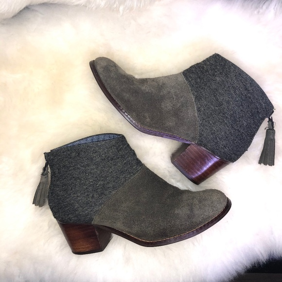 Toms Shoes - Toms 'Leila' Ankle Booties Tarmac Olive Size 5.5